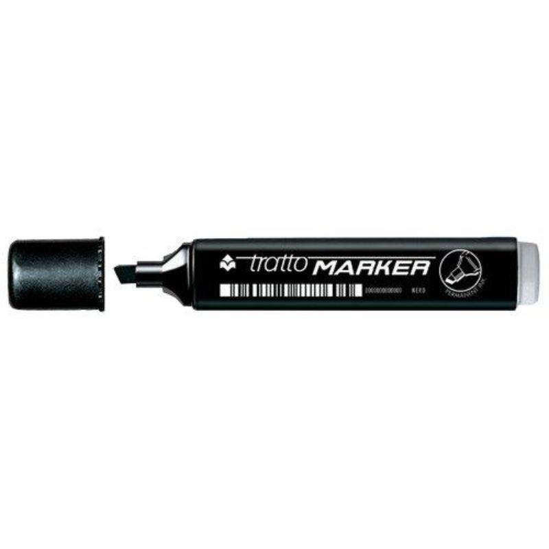 tratto-marker-punta-a-scalpello-nero