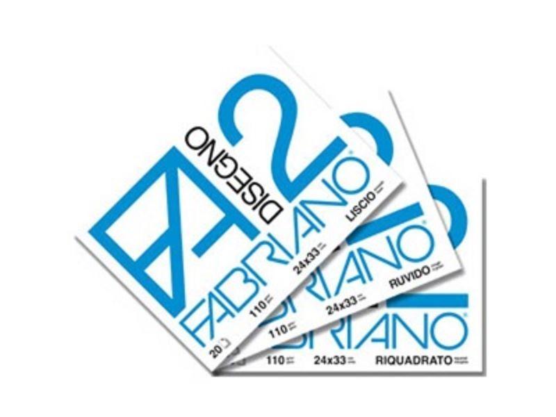album-fabriano-a4-24x33cm-f2-110g-riquadrato